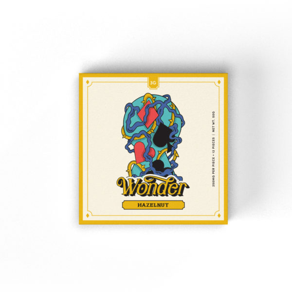 Wonder Psilocybin Chocolate Bar — Hazelnut (3g)